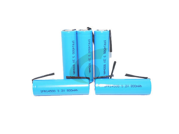 Rechargeable 800mah 3.2v Lifepo4 Battery With Tabs For Led Light