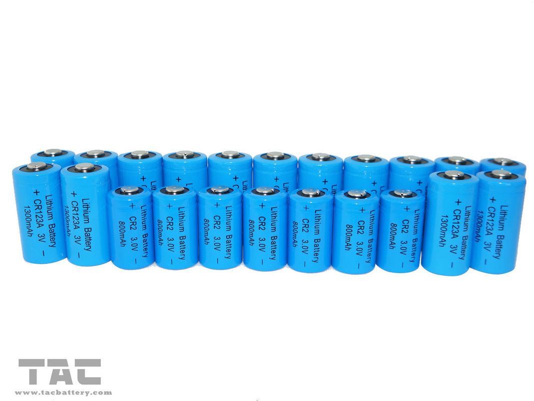 Non-rechargeable 3.0V CR123A 1300mAh Li-Mn Battery for digital control machine