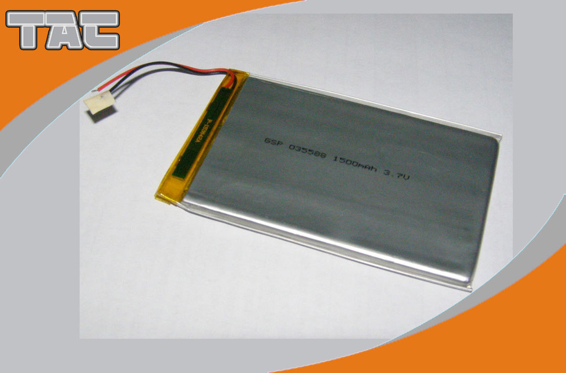 Polymer Lithium Ion Battery GSP035088 3.7V 1500mAh With PCB For Electrical Toy